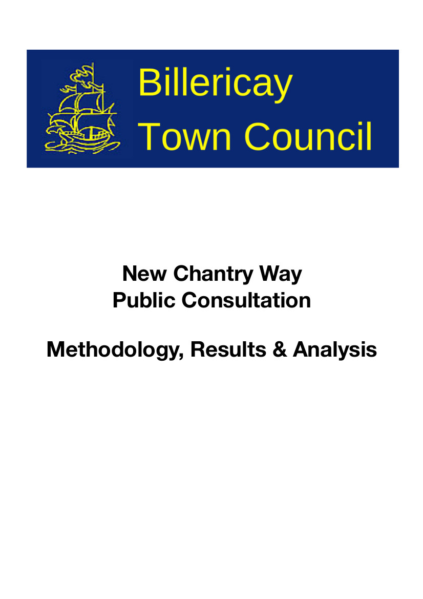 Chantry Way consultation report front page