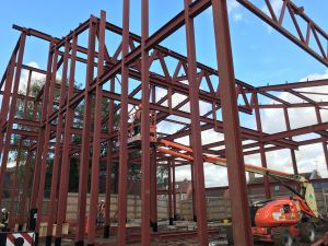 Steel structure of new building