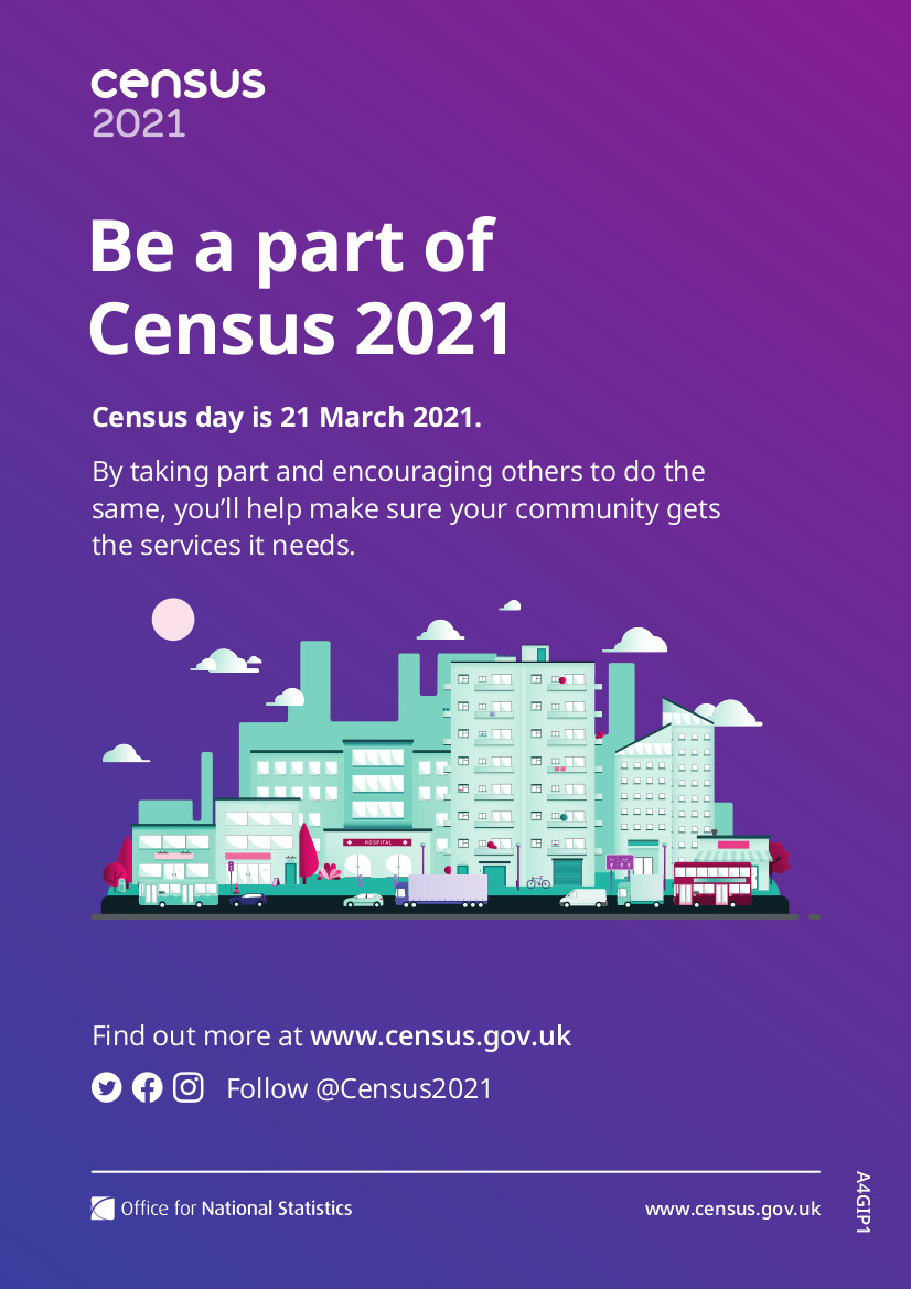 Census 2021 poster
