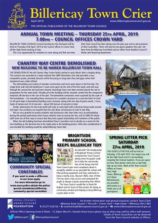 Town Crier magazine April 2019