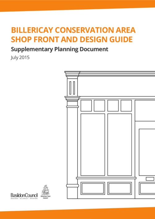 Front page of Billericay Shop Front and Conservation Area booklet