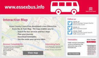 Image of Essex Bus Information page