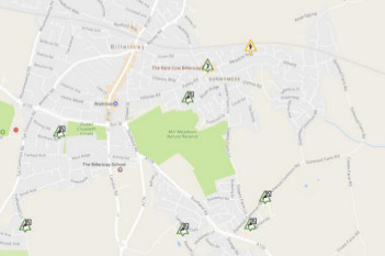 map of Billericay